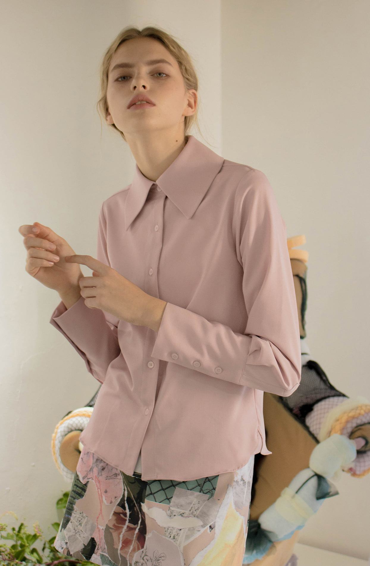 Soap blouse (pink)