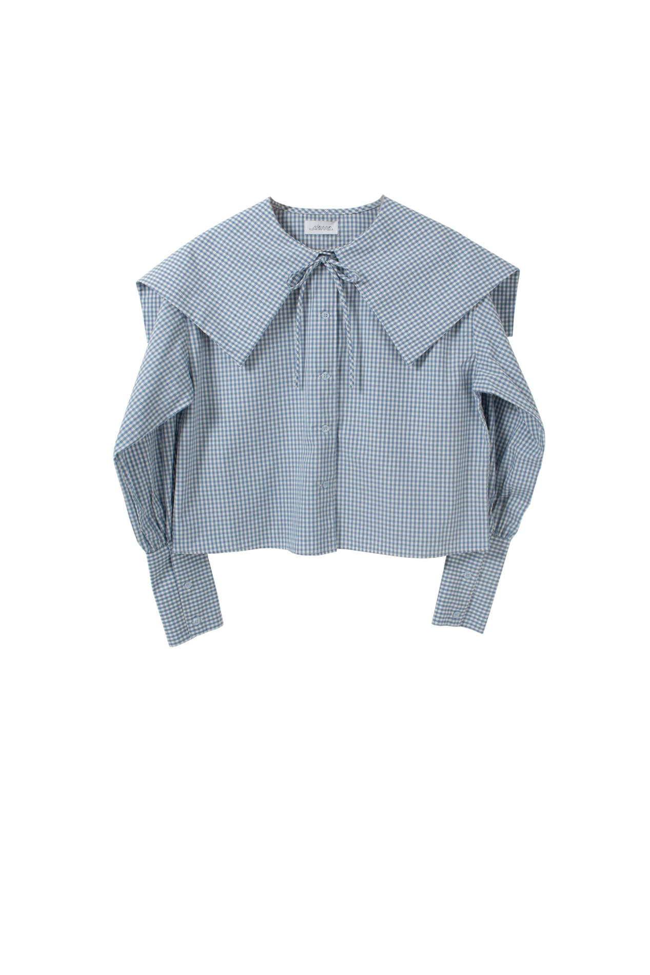 Bigleaf sailor blouse (sky blue)