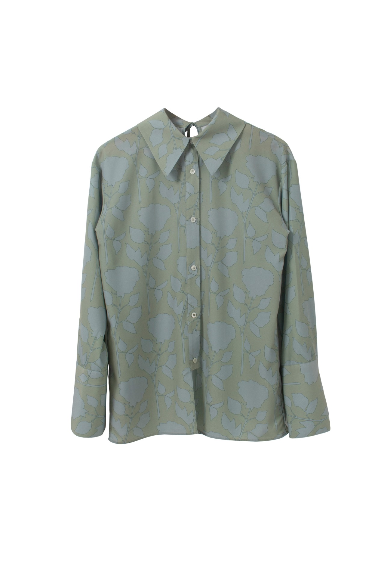 Rose sauvage blouse (green)