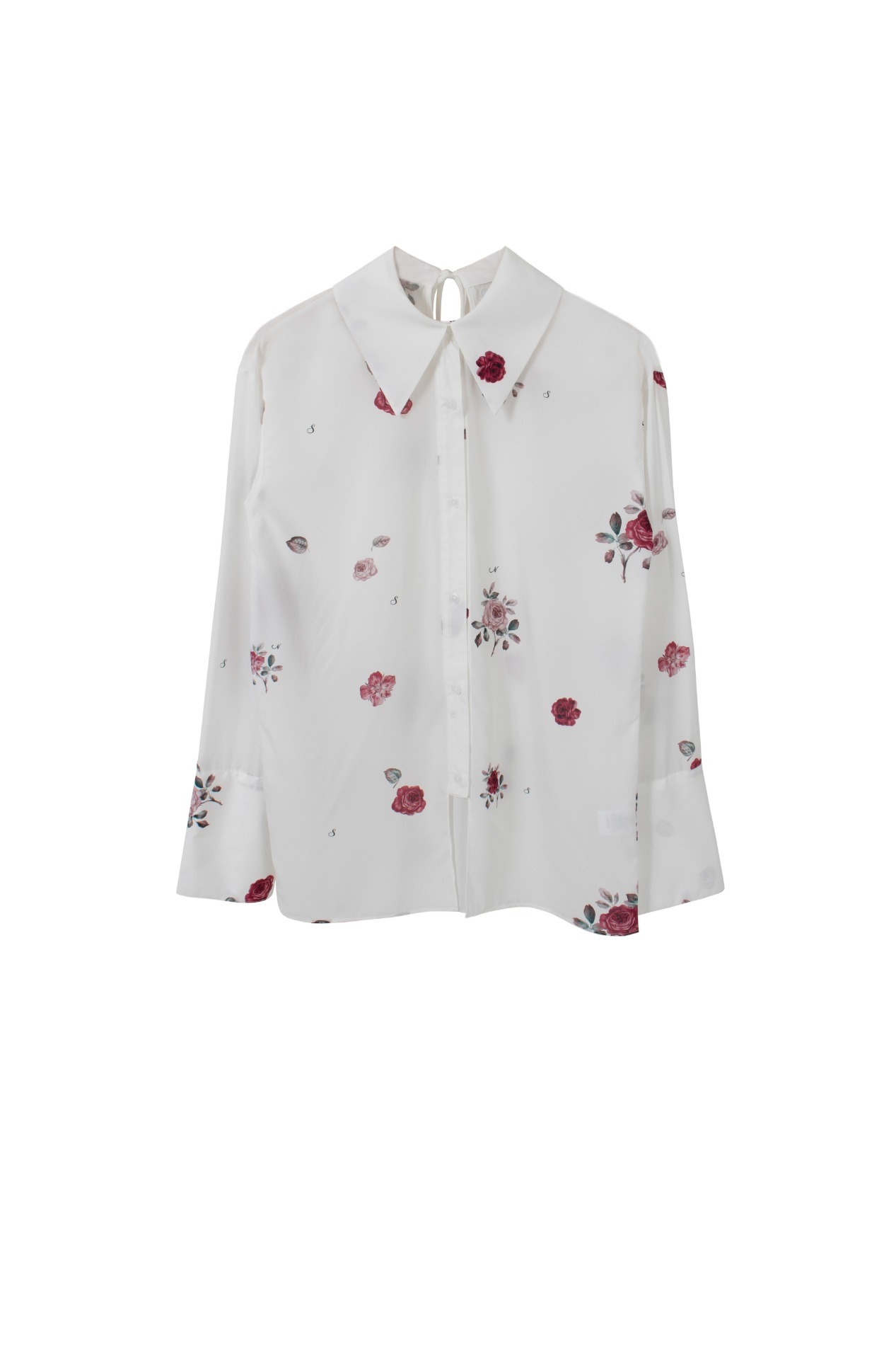 Rose sauvage blouse (white)