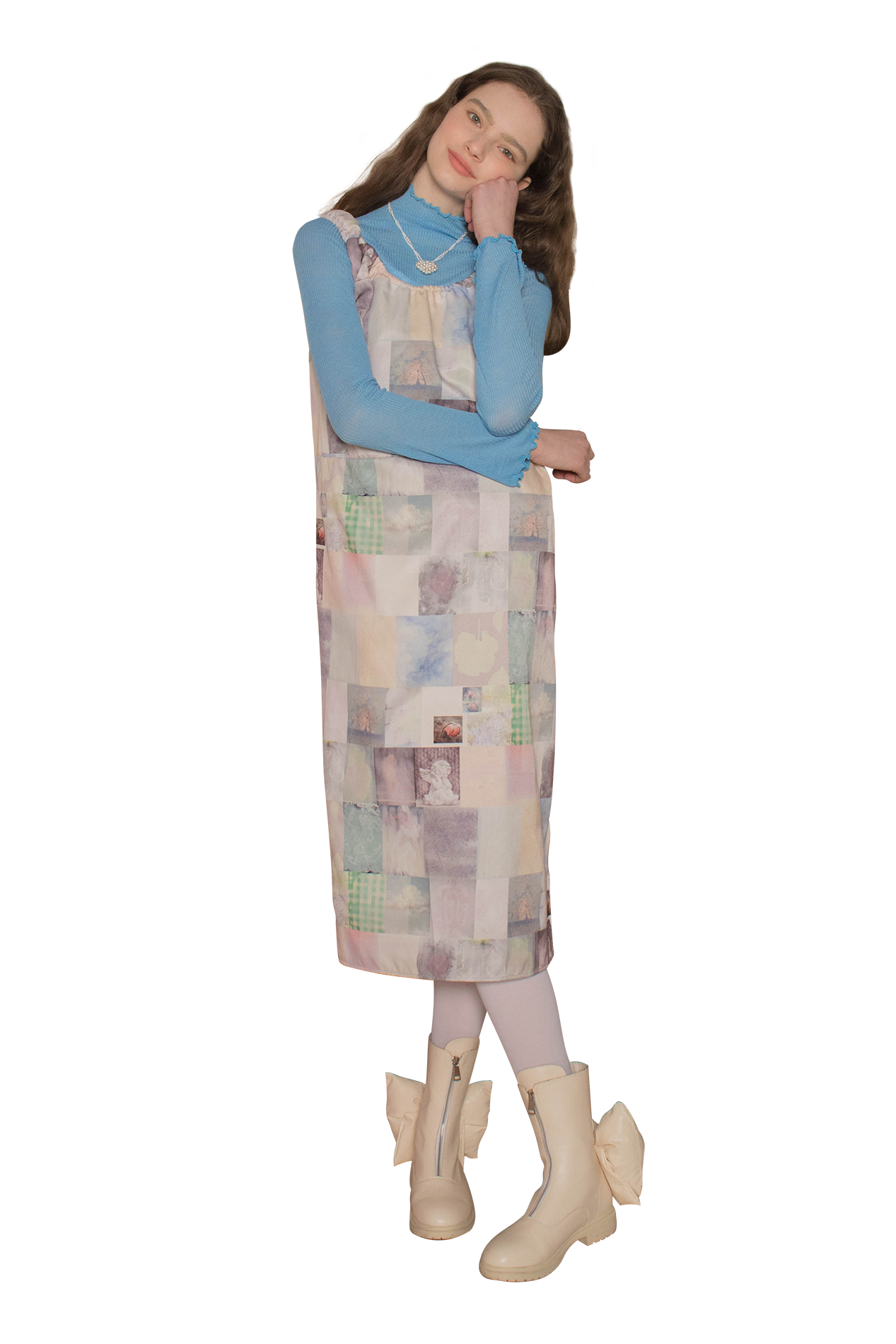 Nube long dress (collage)