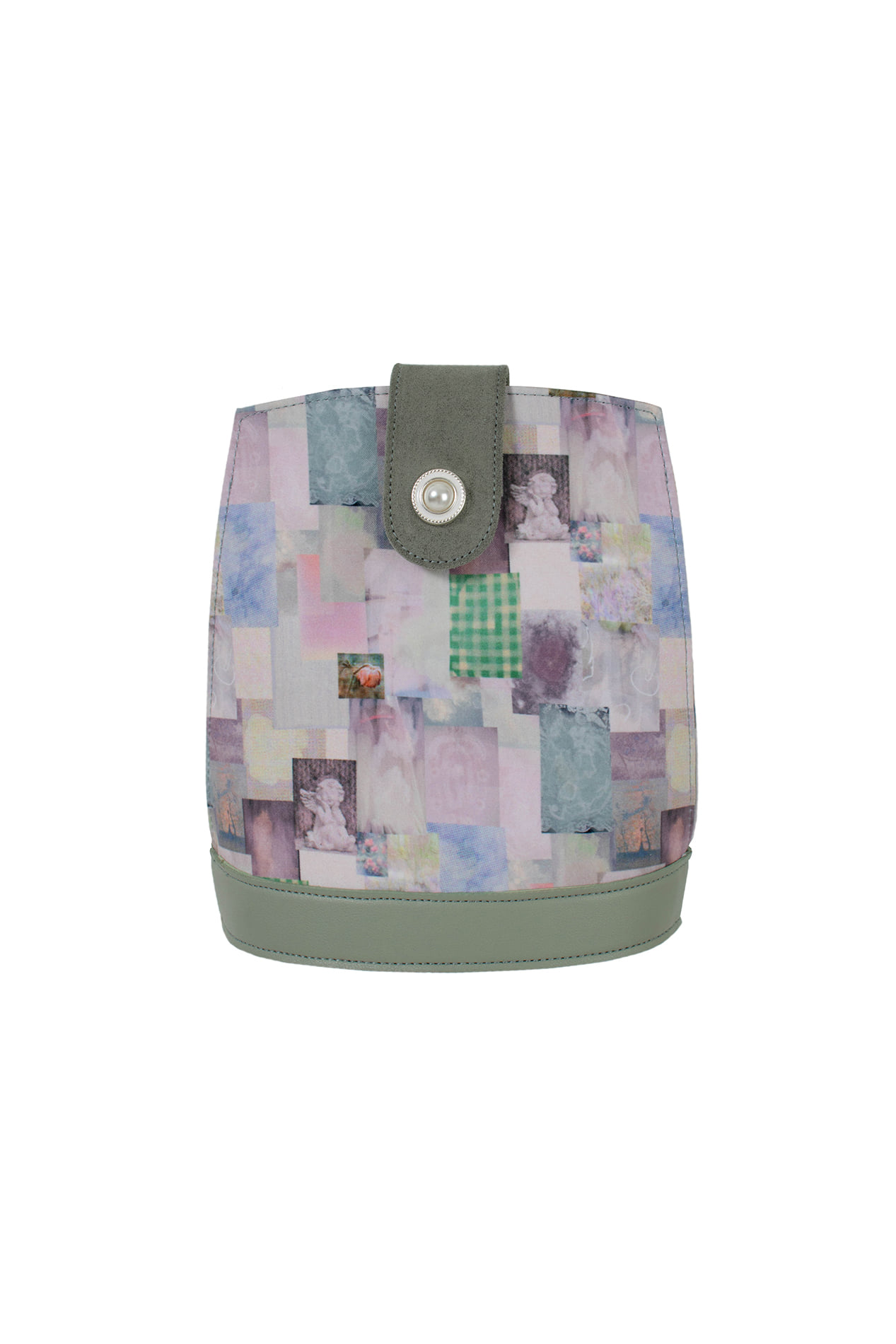 Malila mini bag (collage mint)