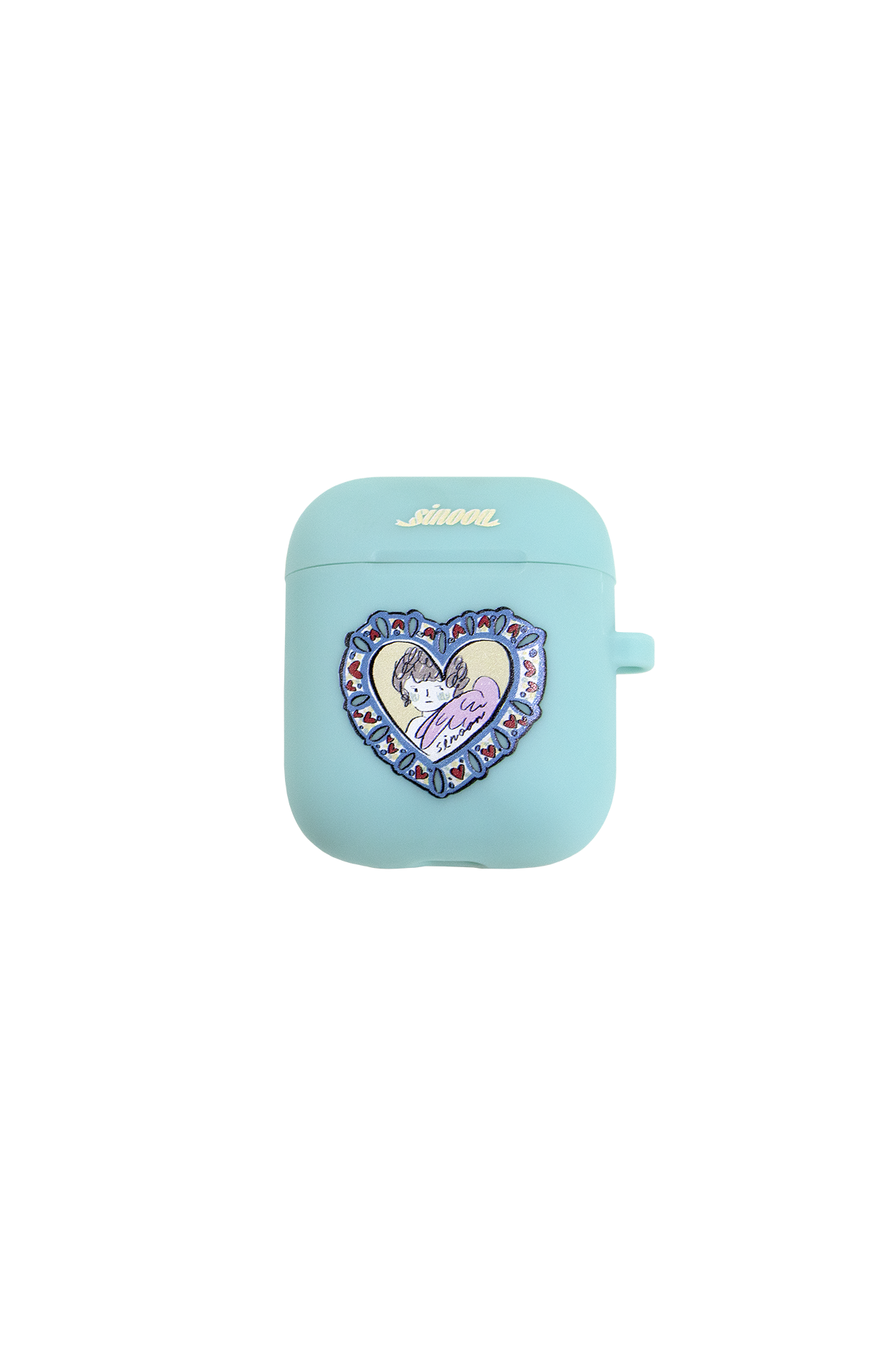 Air-pod case (heart ange mint)