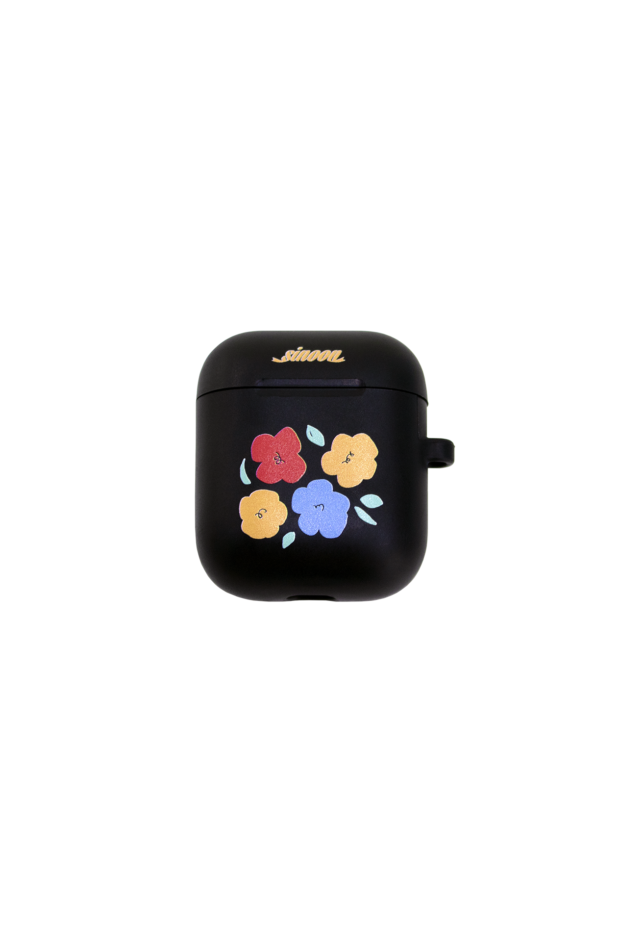 Air-pod case (flower black)
