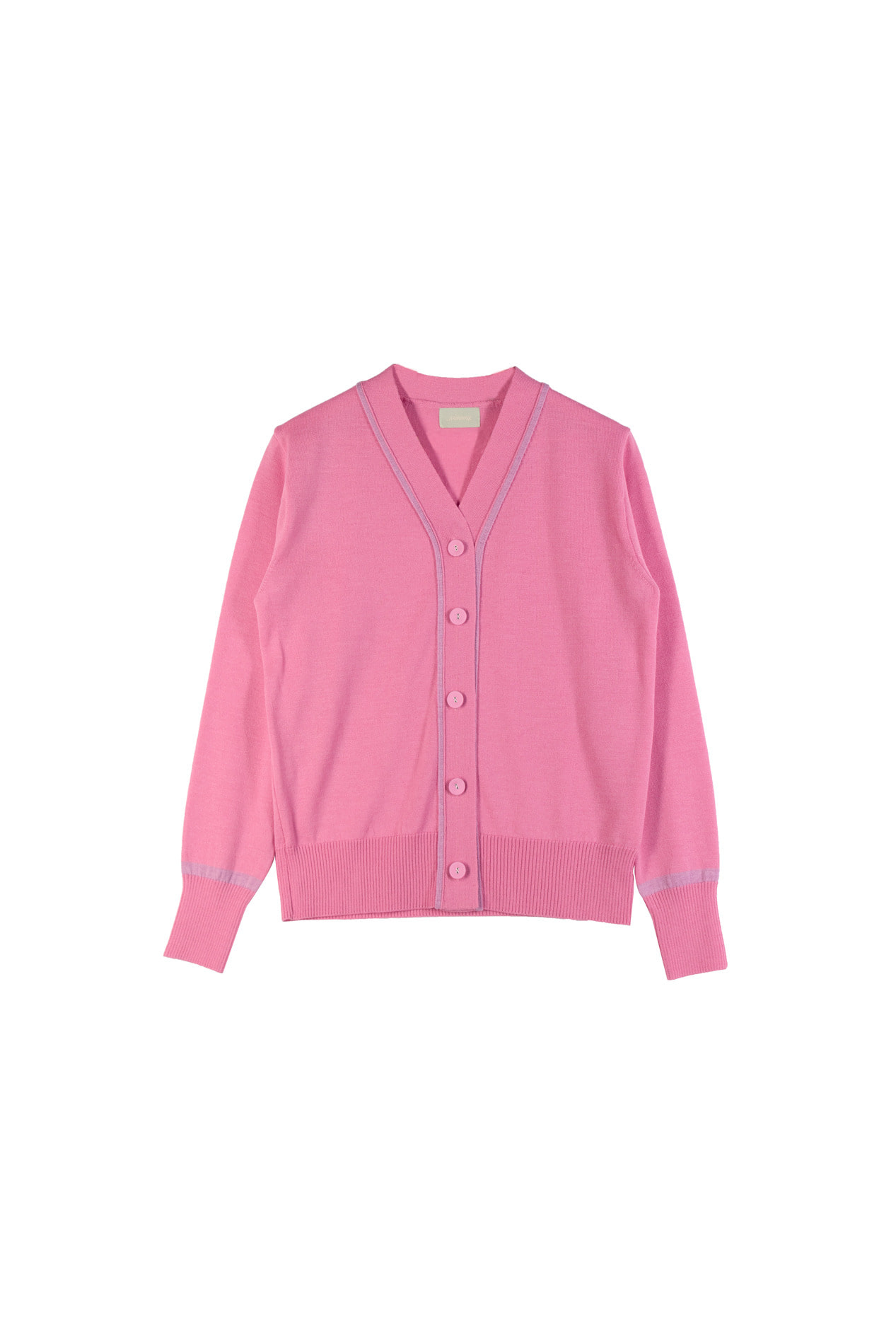 Color-block Cardigan (dusty pink)