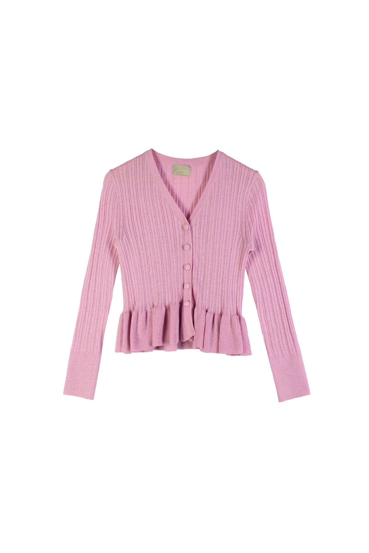 Peplum Cardigan (dusty pink)