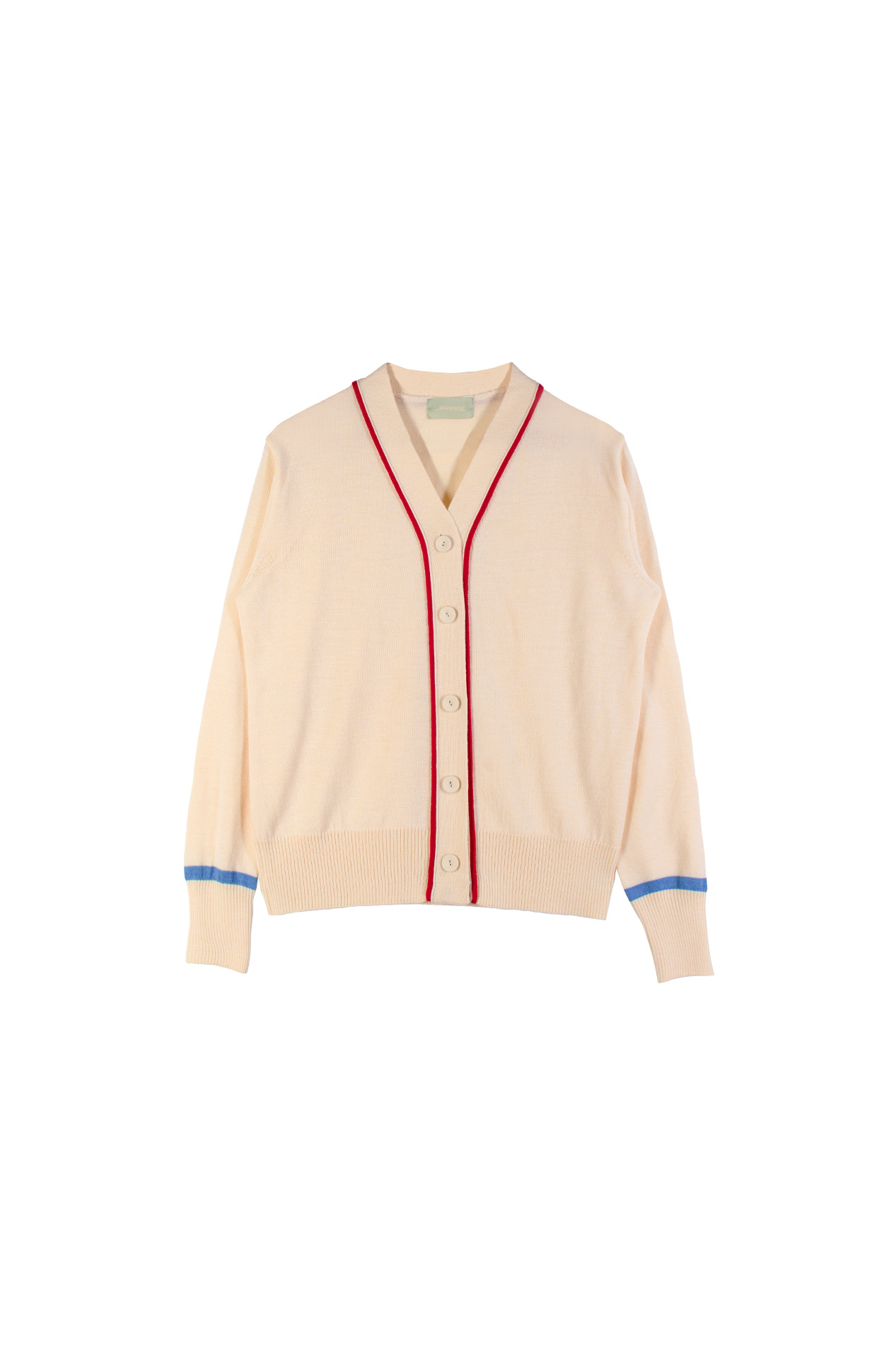 Color-block Cardigan (ivory)
